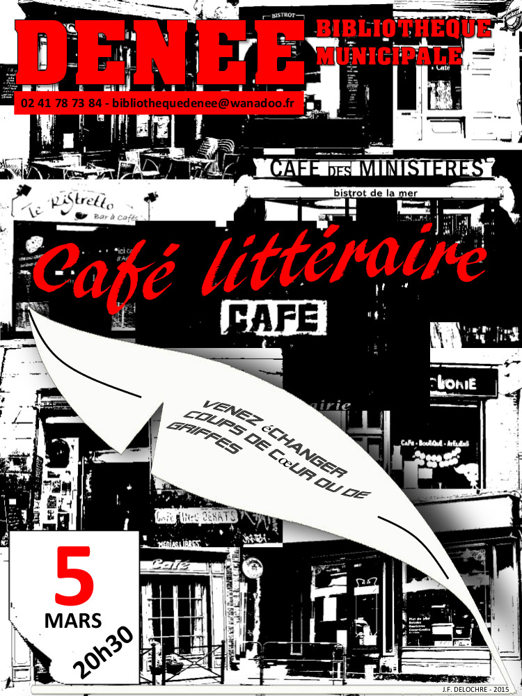 affiches cafe litteraire